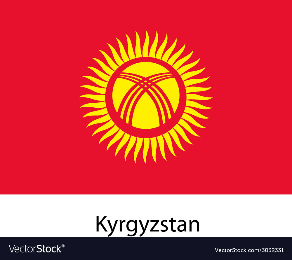 Flag of the country kyrgystan