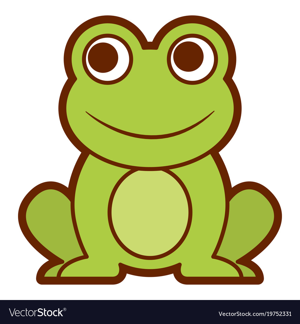 frog cute animal sitting cartoon royalty free vector image