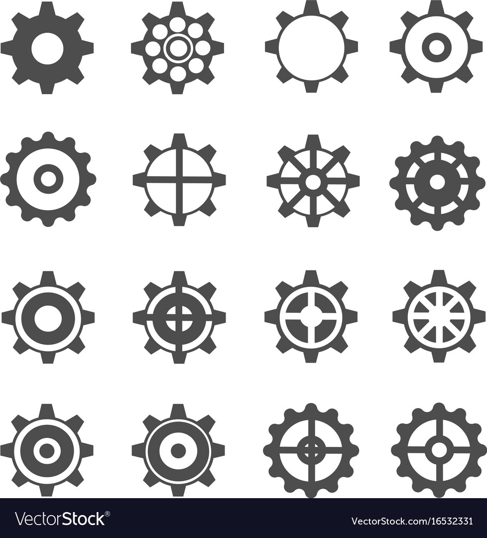 Gear icons vector image