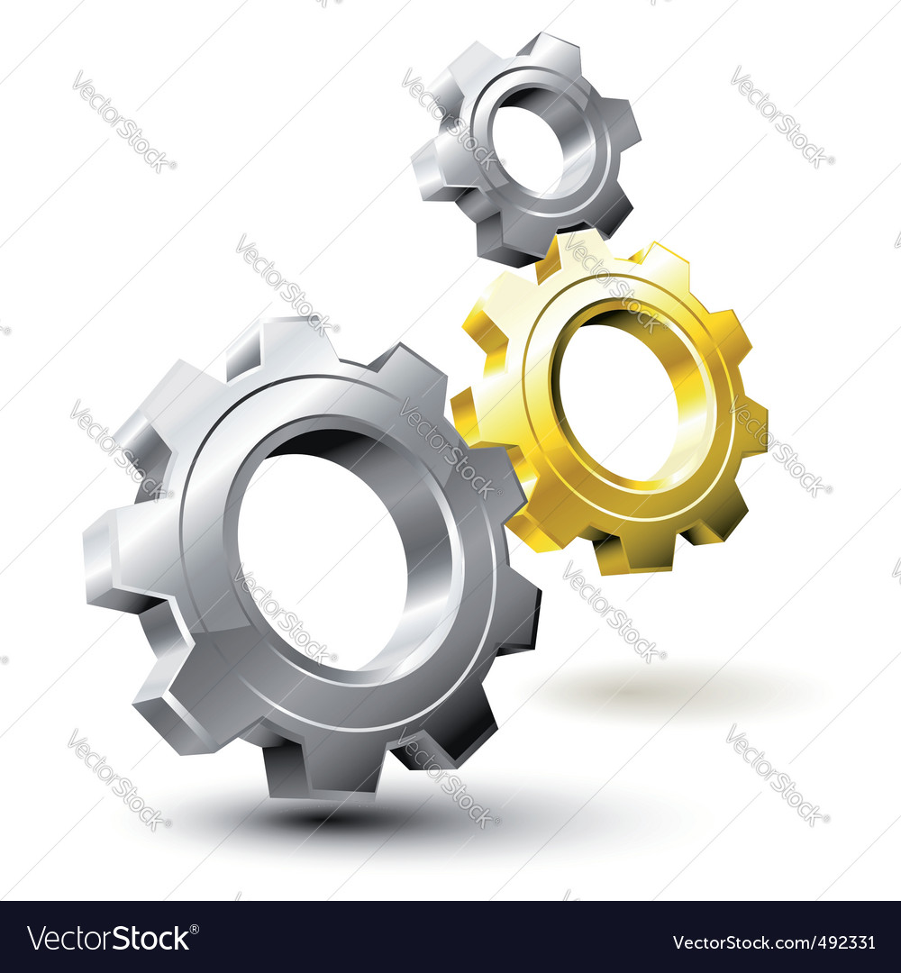 Gear system vector image