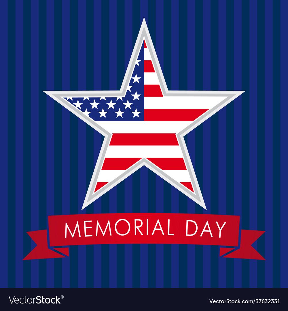 Memorial day usa star