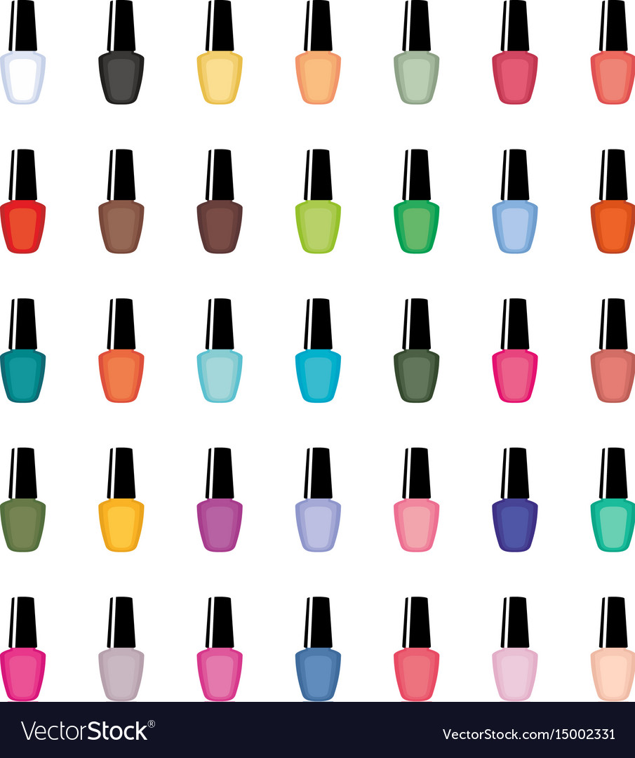 Nail polish on a white background isolated