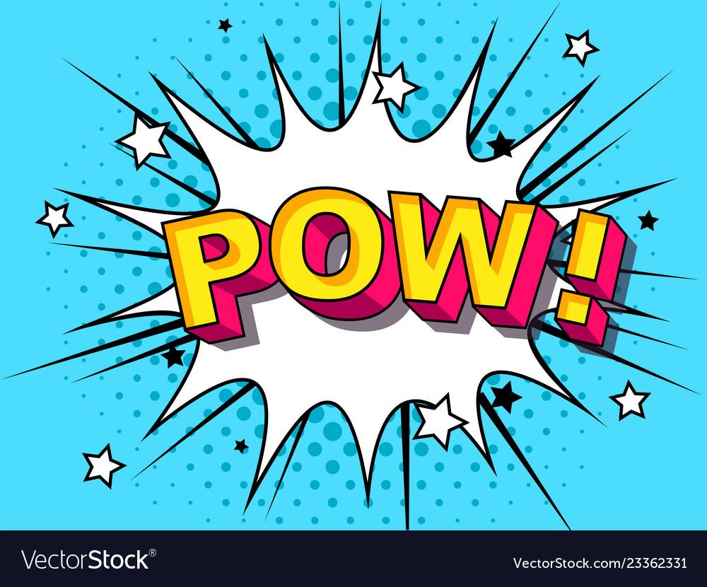Pow comic cartoon explosions