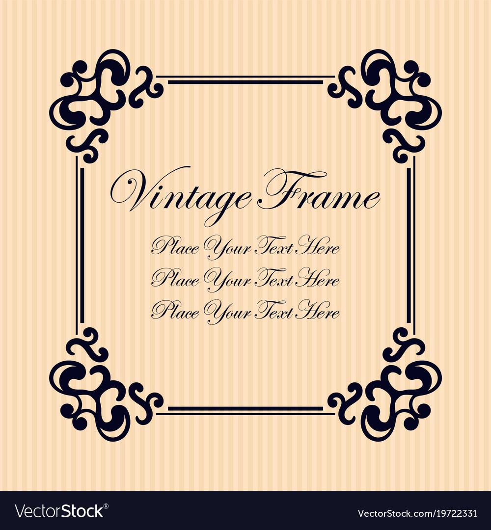 Vintage decorative frame elegant ornamental