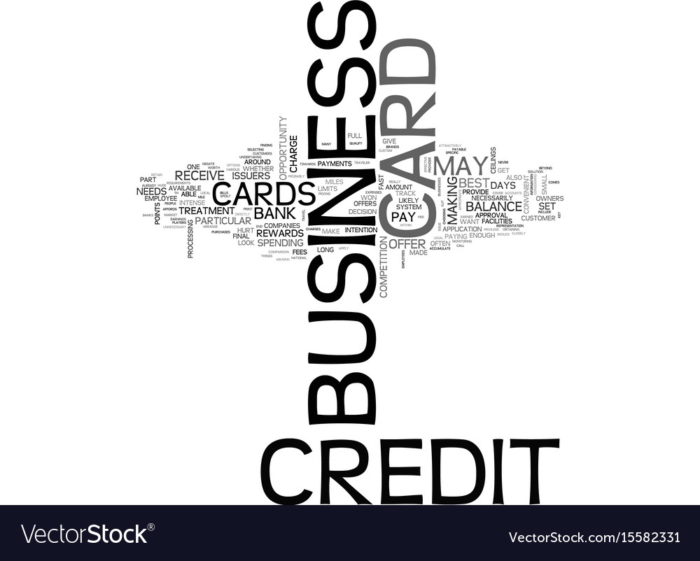 Which business credit card is best for you text vector image reheart Image collections