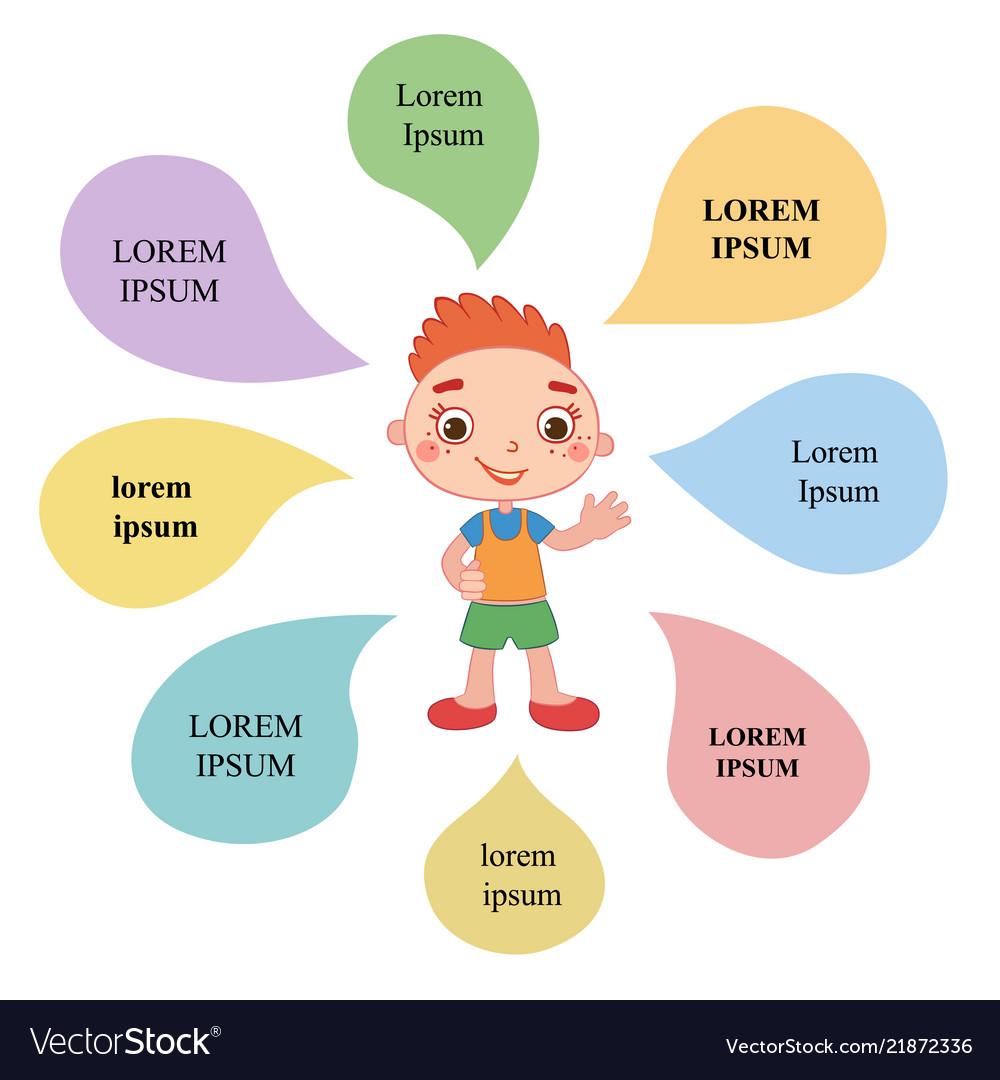 Brochure backgrounds with cartoon children