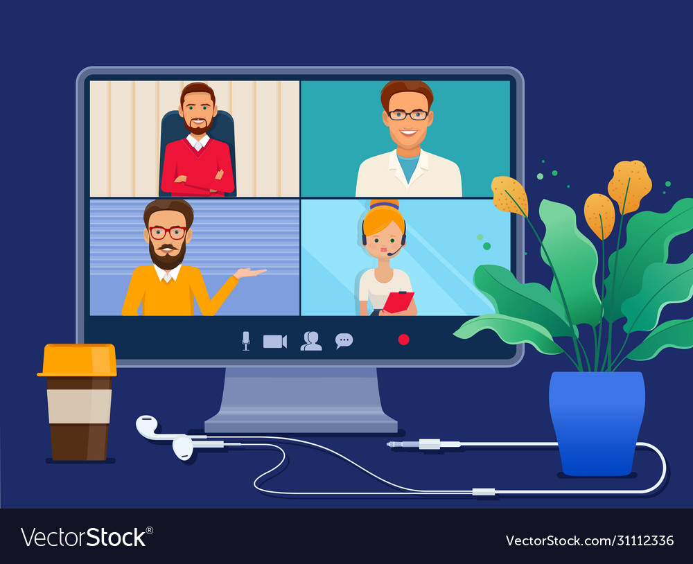 Collective virtual meeting on a computer screen