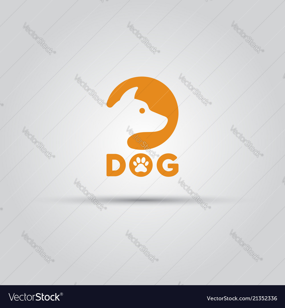 Dog head silhouette in circle isolated icon
