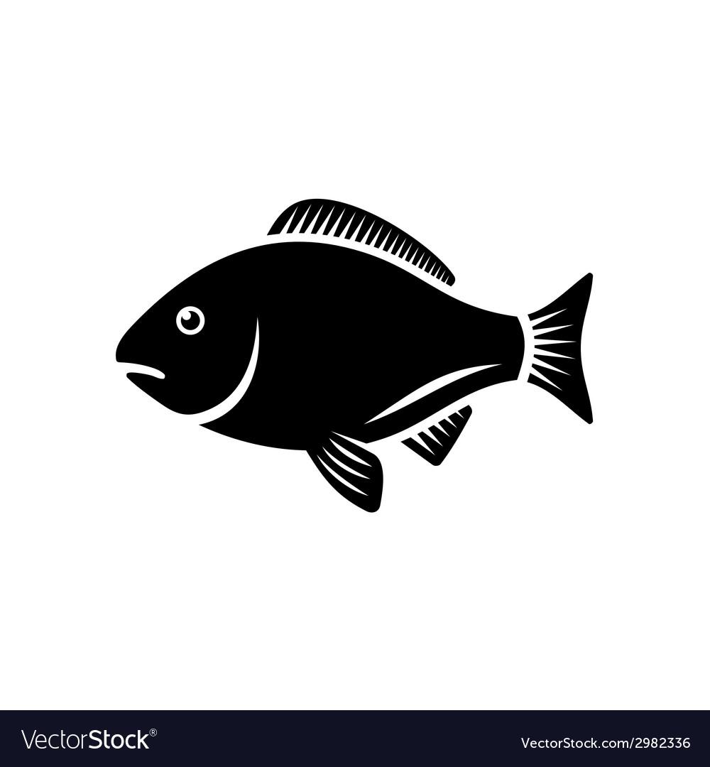 fish icon royalty free vector image vectorstock