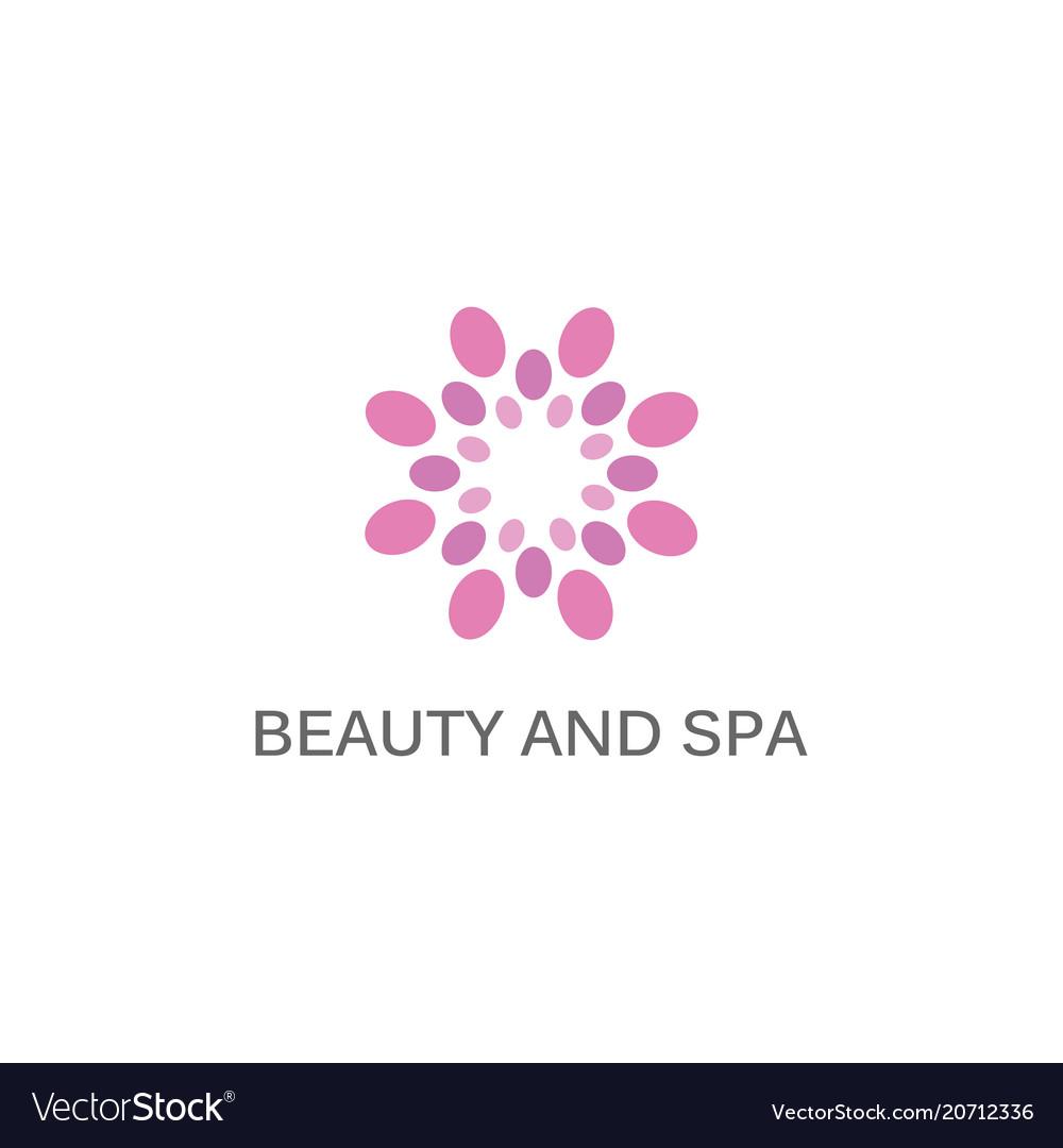 Flower beauty spa logo