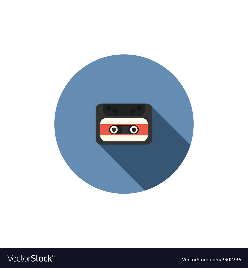 Old audio cassette tape icon