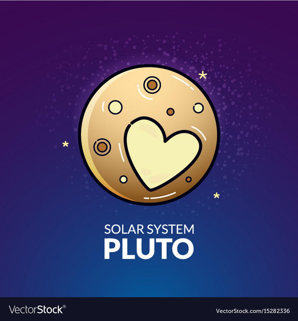 Planet pluto vector image