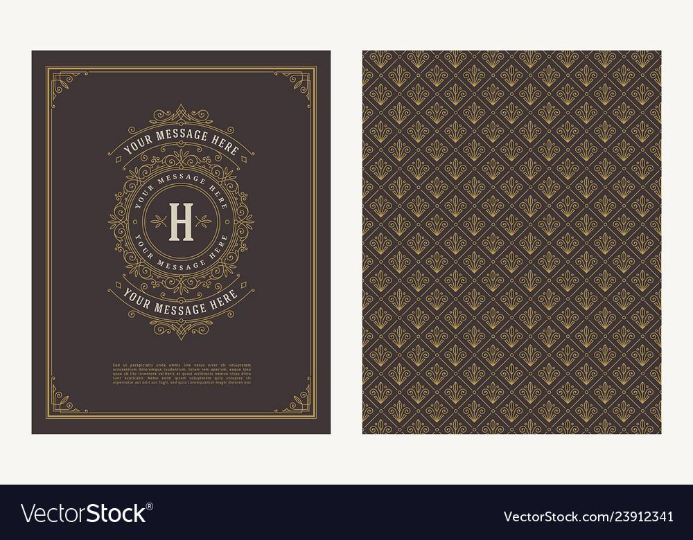Flourishes and ornamental vintage design