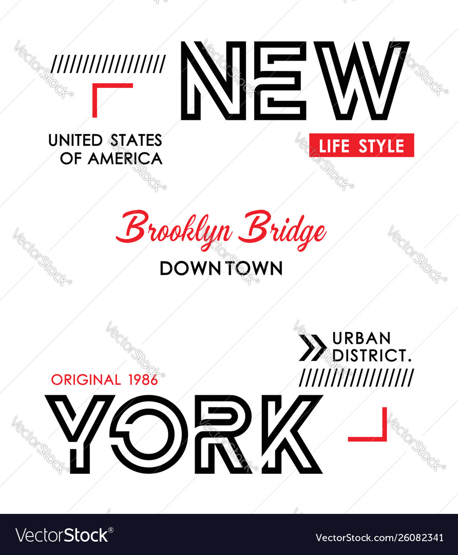 New york typography design for t shirt print