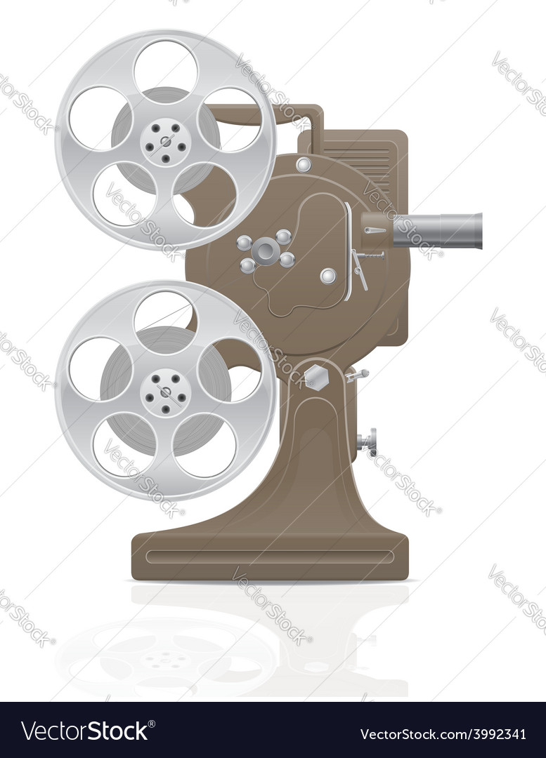 Old retro movie film projector 01