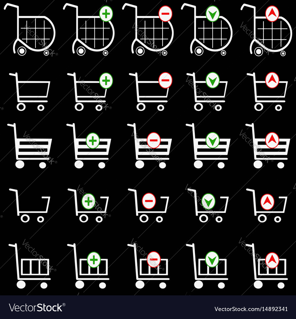 Shopping basket set - online shopping cart