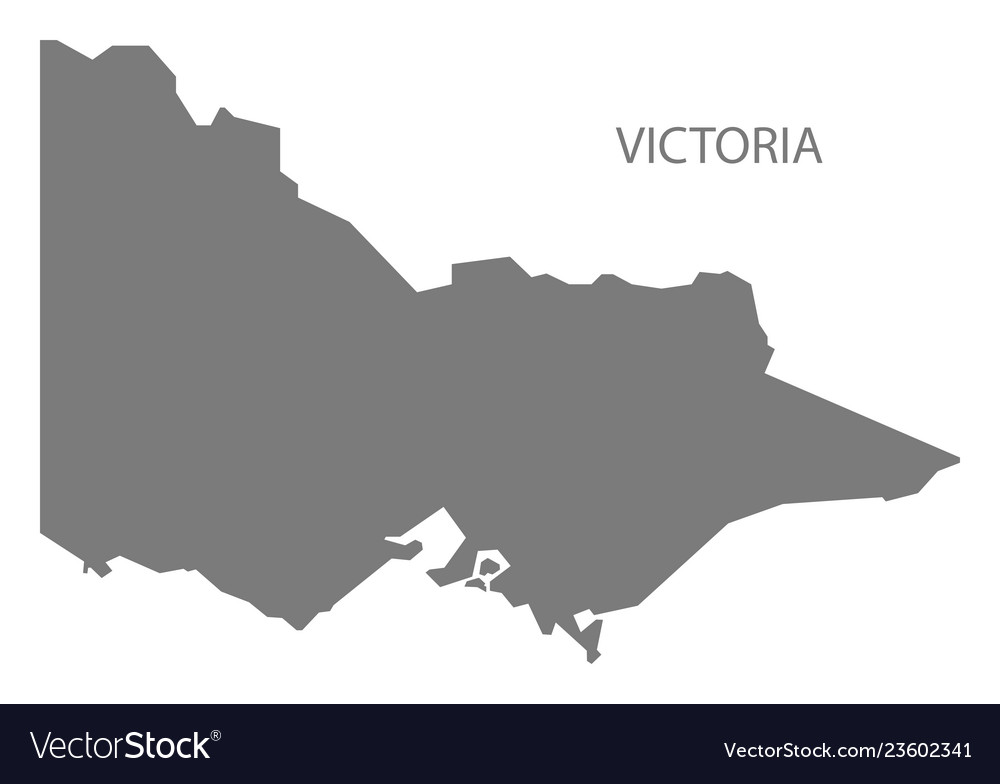 Australia Map Vector Ai.Victoria Australia Map Grey
