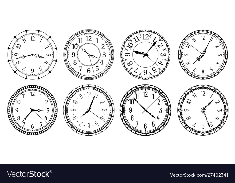 Vintage round clock face antique clocks with