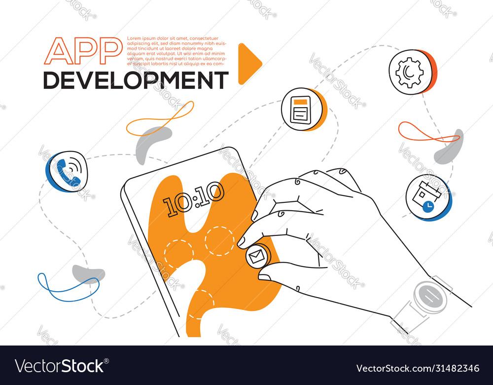 App development - colorful flat design style web