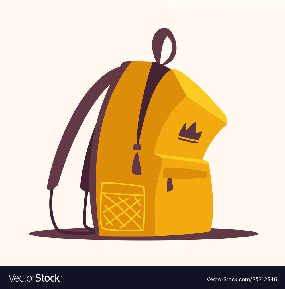 Backpack for school or travel cartoon