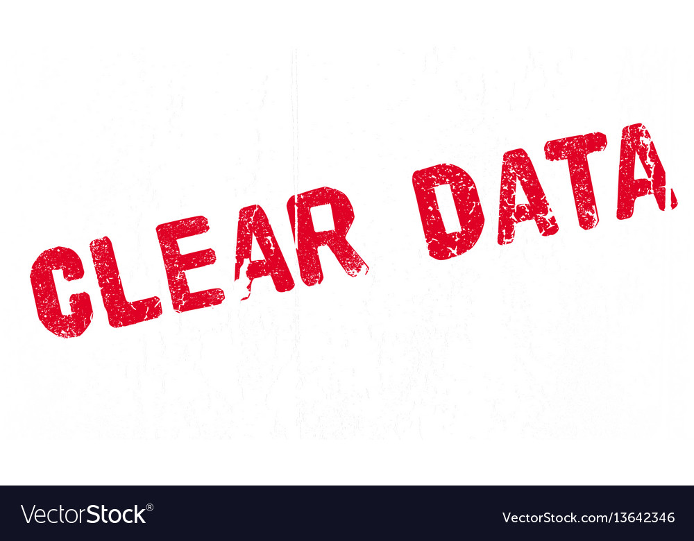 Clear data rubber stamp vector image