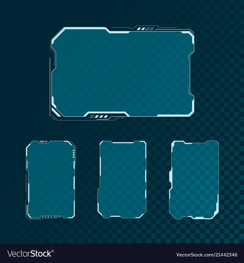 Hud futuristic user interface screen elements set