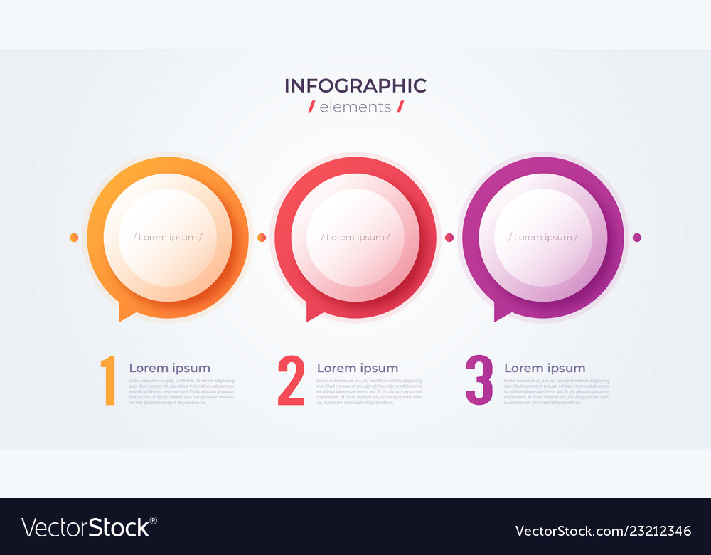 Minimalistic infographic concept with 3 options
