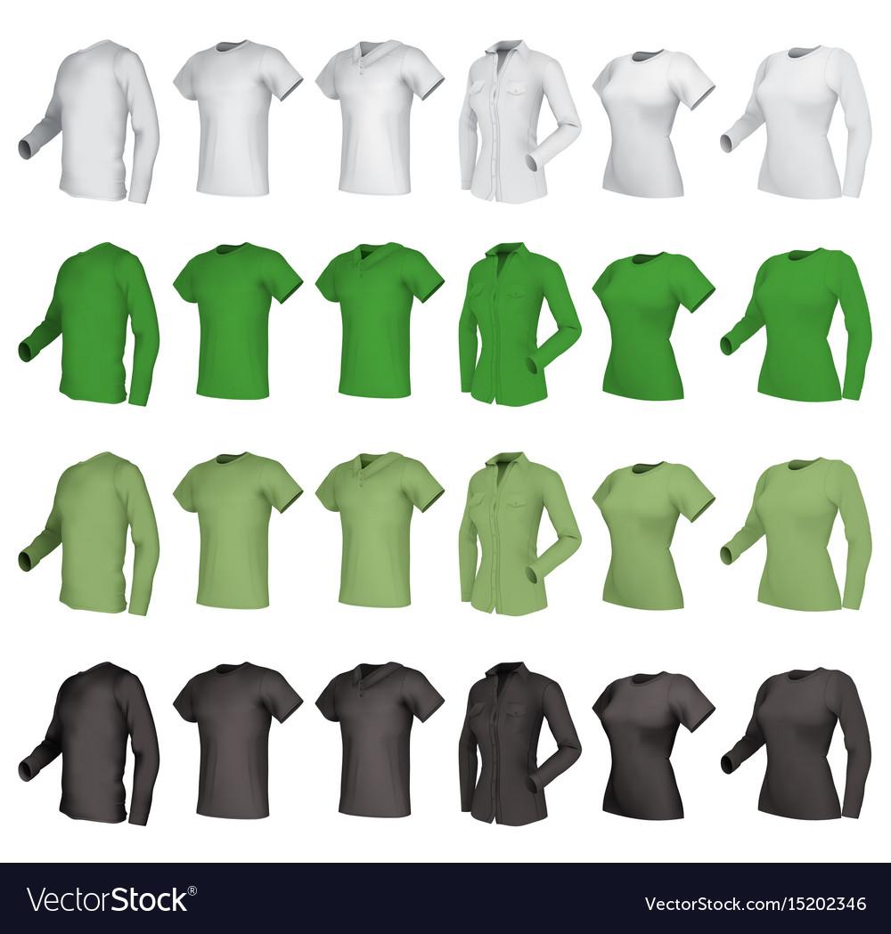 Polo shirts and t-shirts set