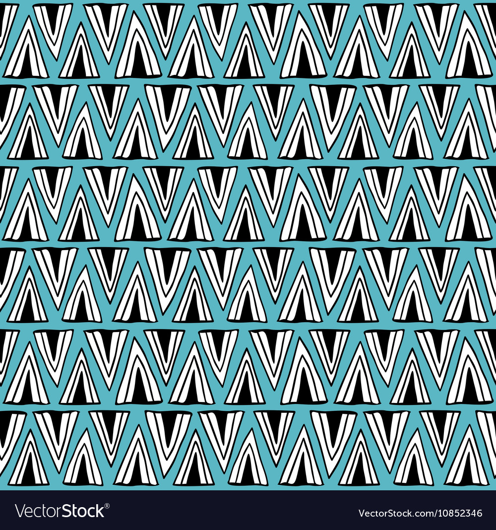 Scandinavian style pattern with doodle elements