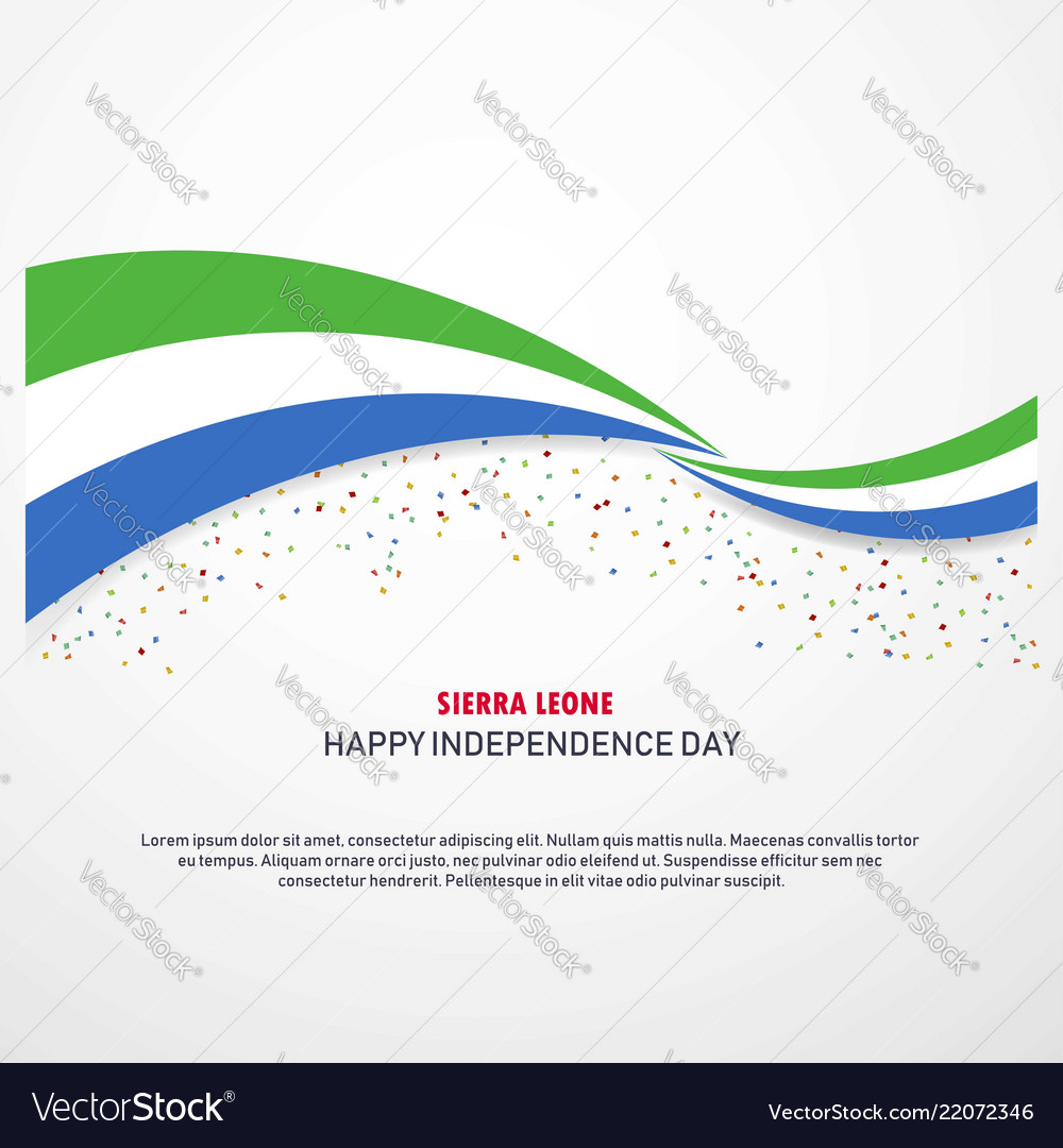 Sierra leone happy independence day background