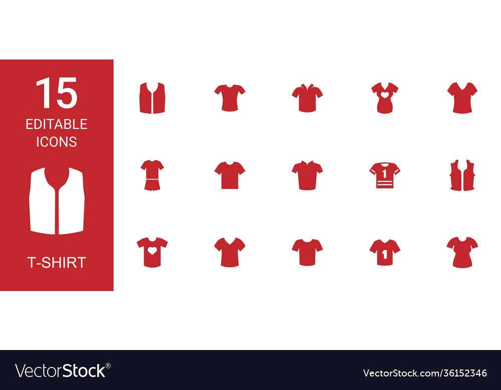 T-shirt icons