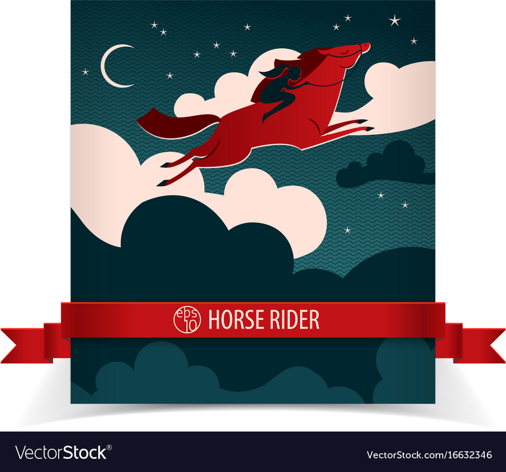 Wild horse poster with ribbon