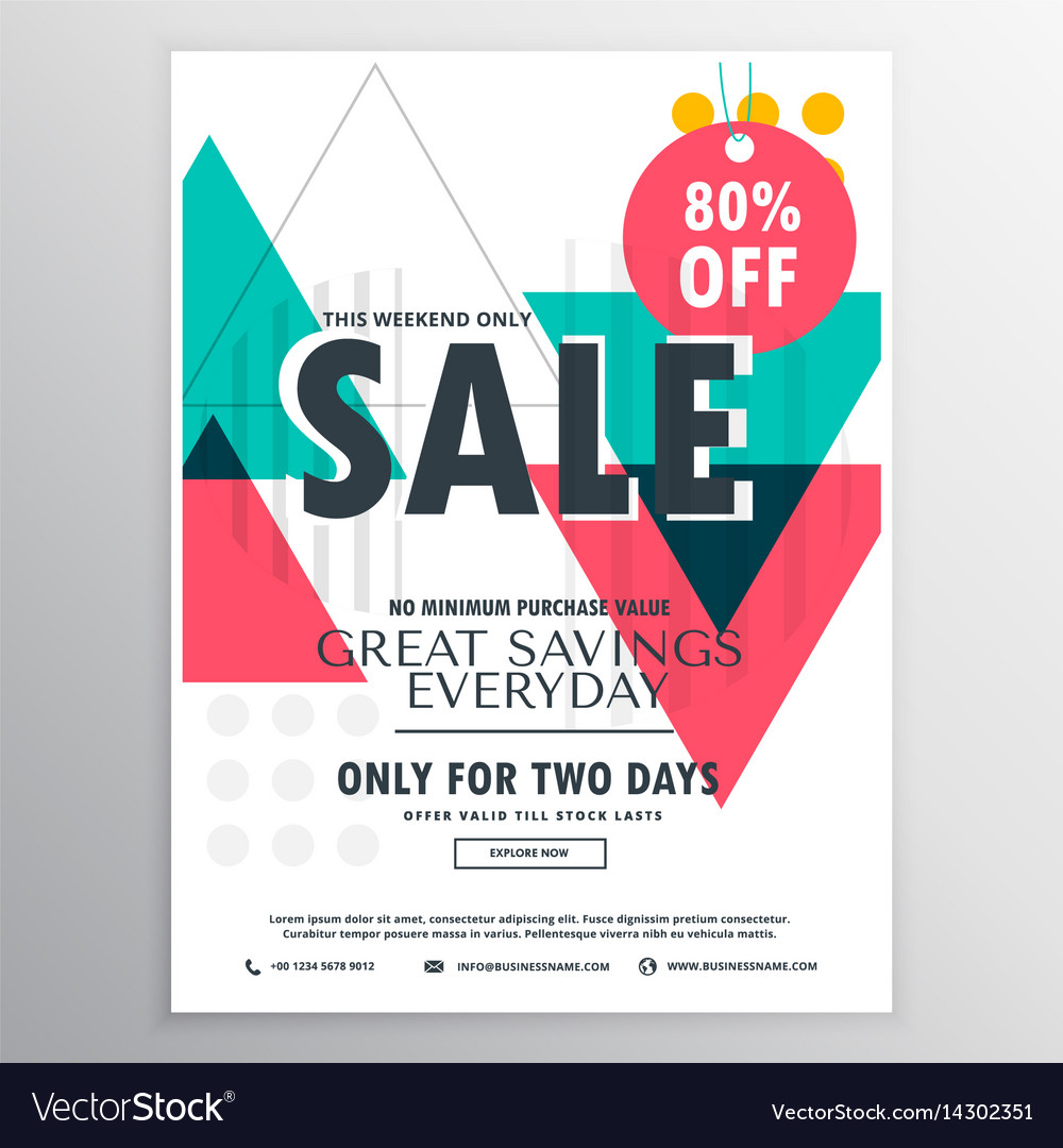 abstract promotional sale flyer poster design vector image