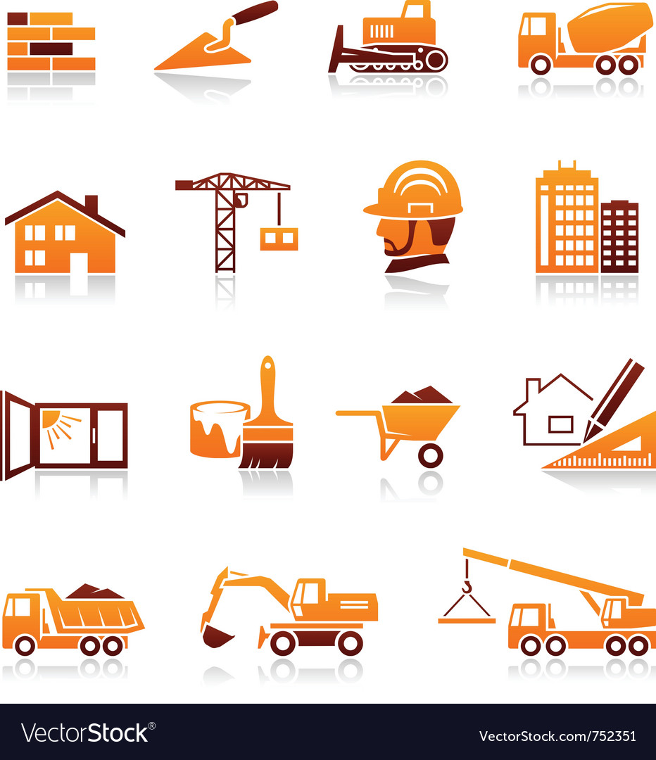 Construction and real estate icons