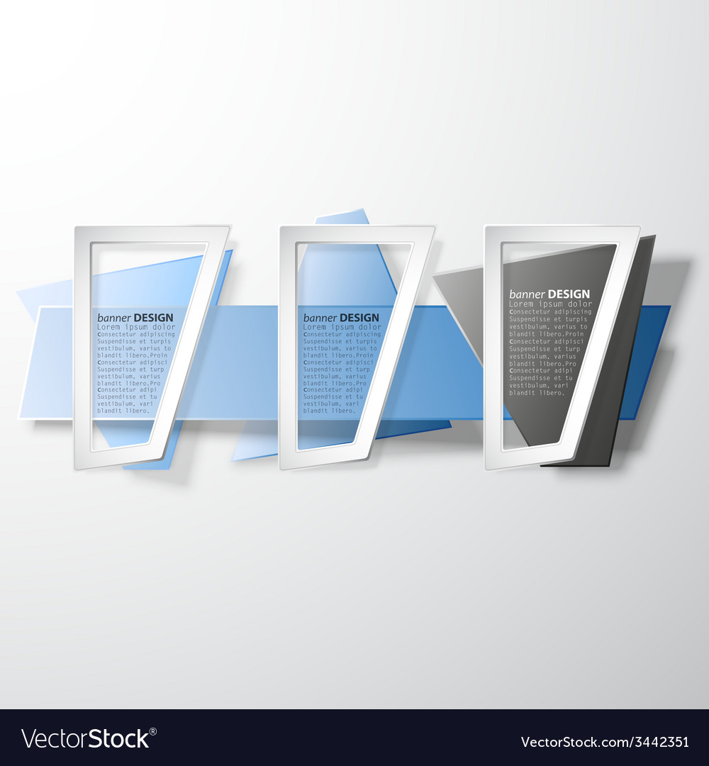 Infographic banners set origami styled