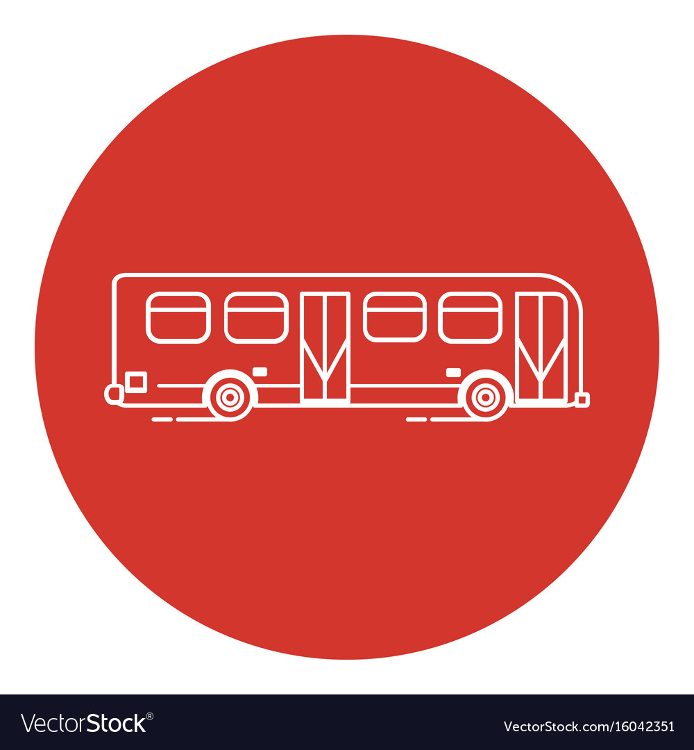Line art style bus icon