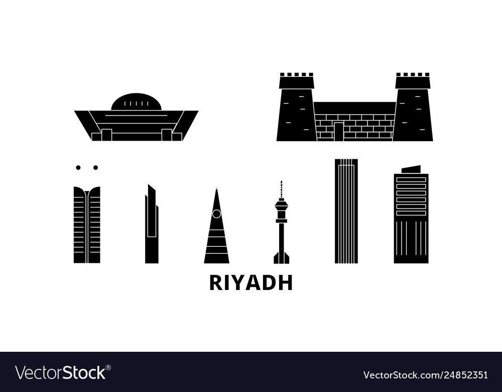 Saudi arabia riyadh flat travel skyline set