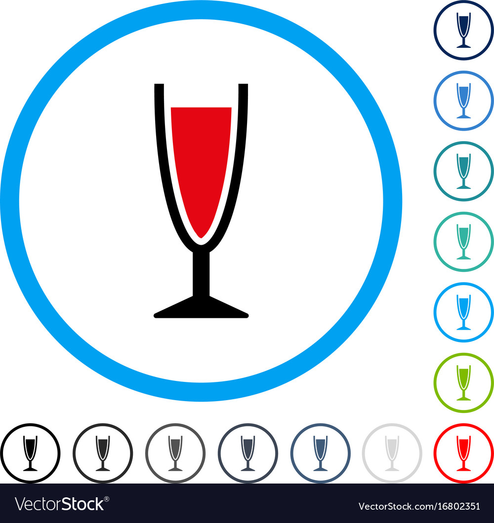 Wine glass rounded icon