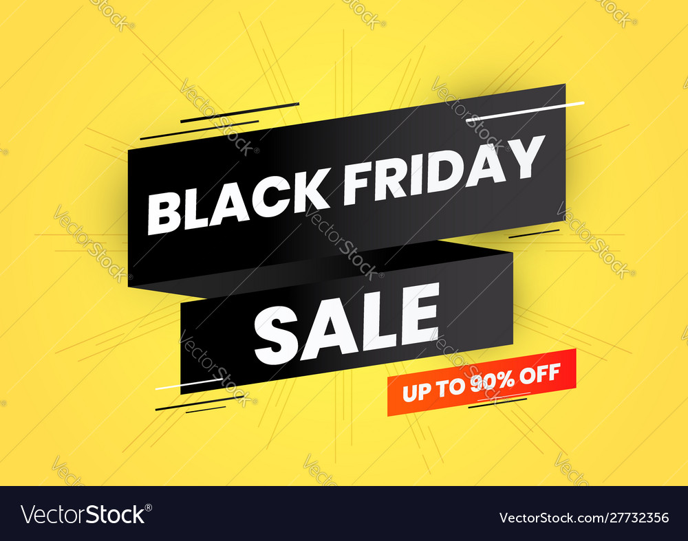 Black friday sale on black ribbon and yellow