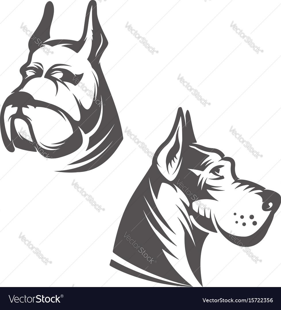Dog head isolated on white background design