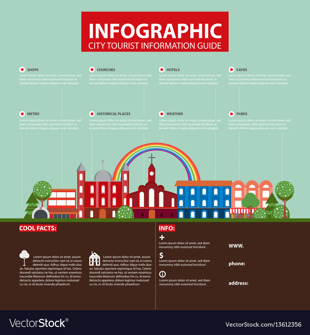 Flat travel city infographic concept