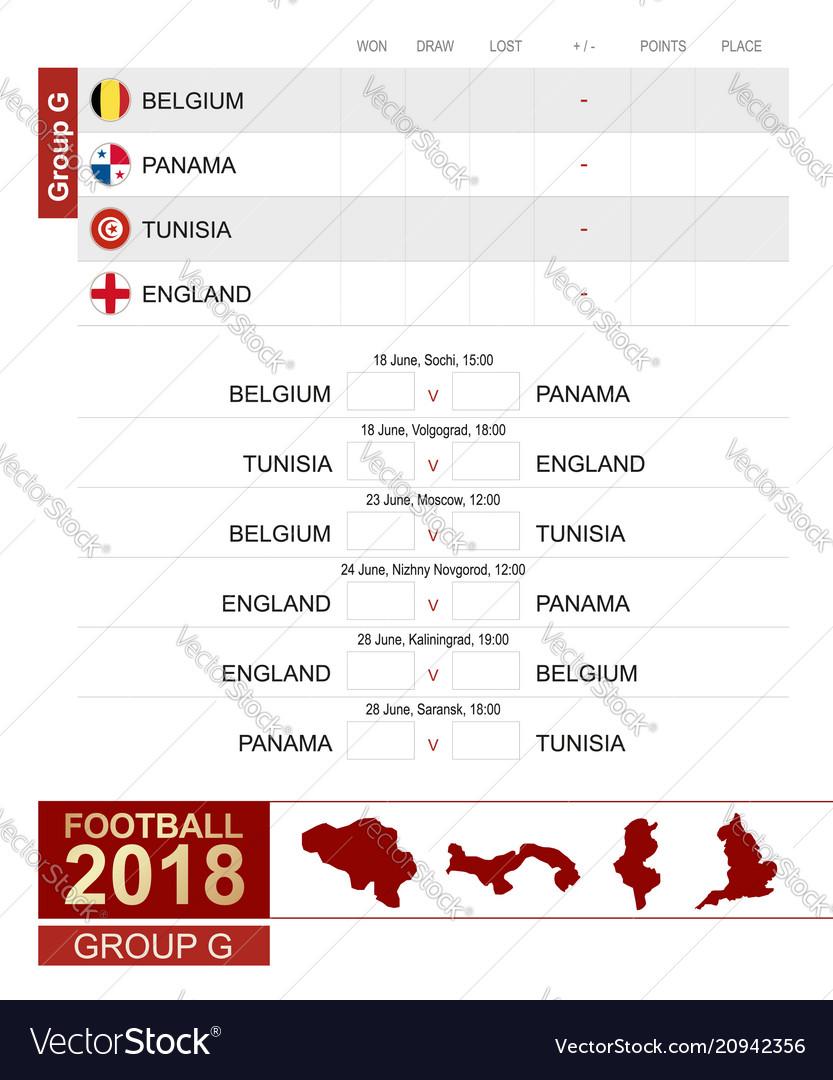 Football 2018 group g match schedule all