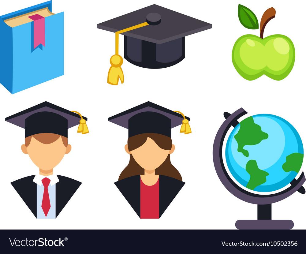 Graduation Education Symbols Royalty Free Vector Image
