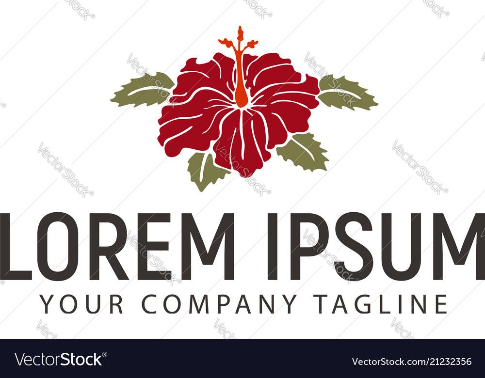 Hibiscus flower logo design concept template vector image izmirmasajfo