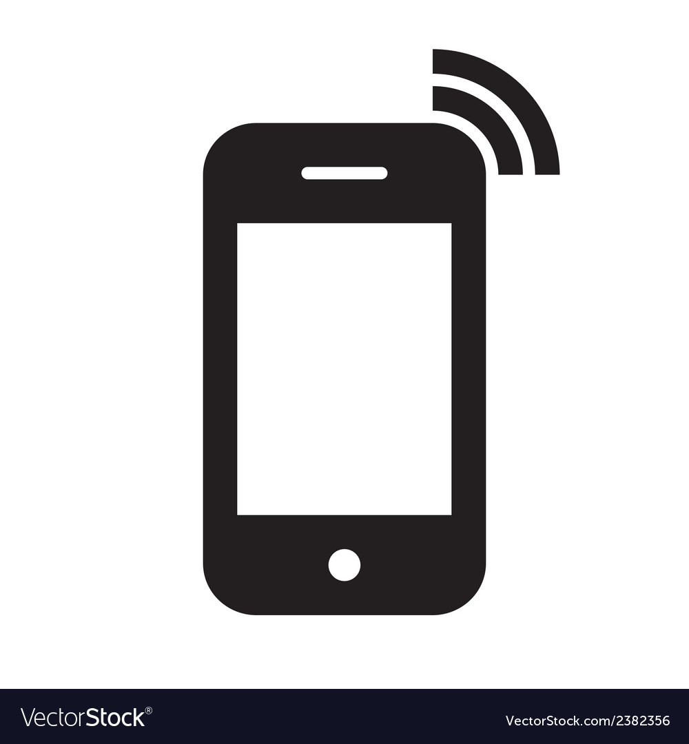 mobile phone icon royalty free vector image vectorstock rh vectorstock com vector phone graphic vector phone number