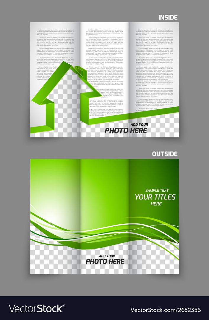 real estate tri fold brochure royalty free vector image