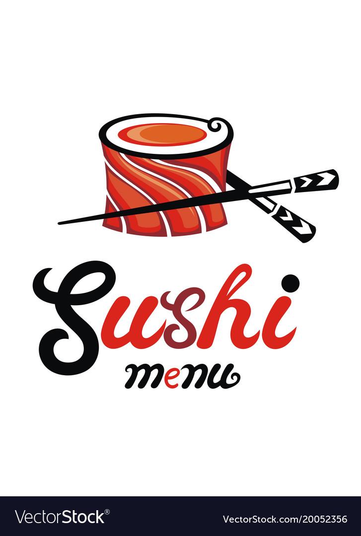 Sushi restaurant vector image