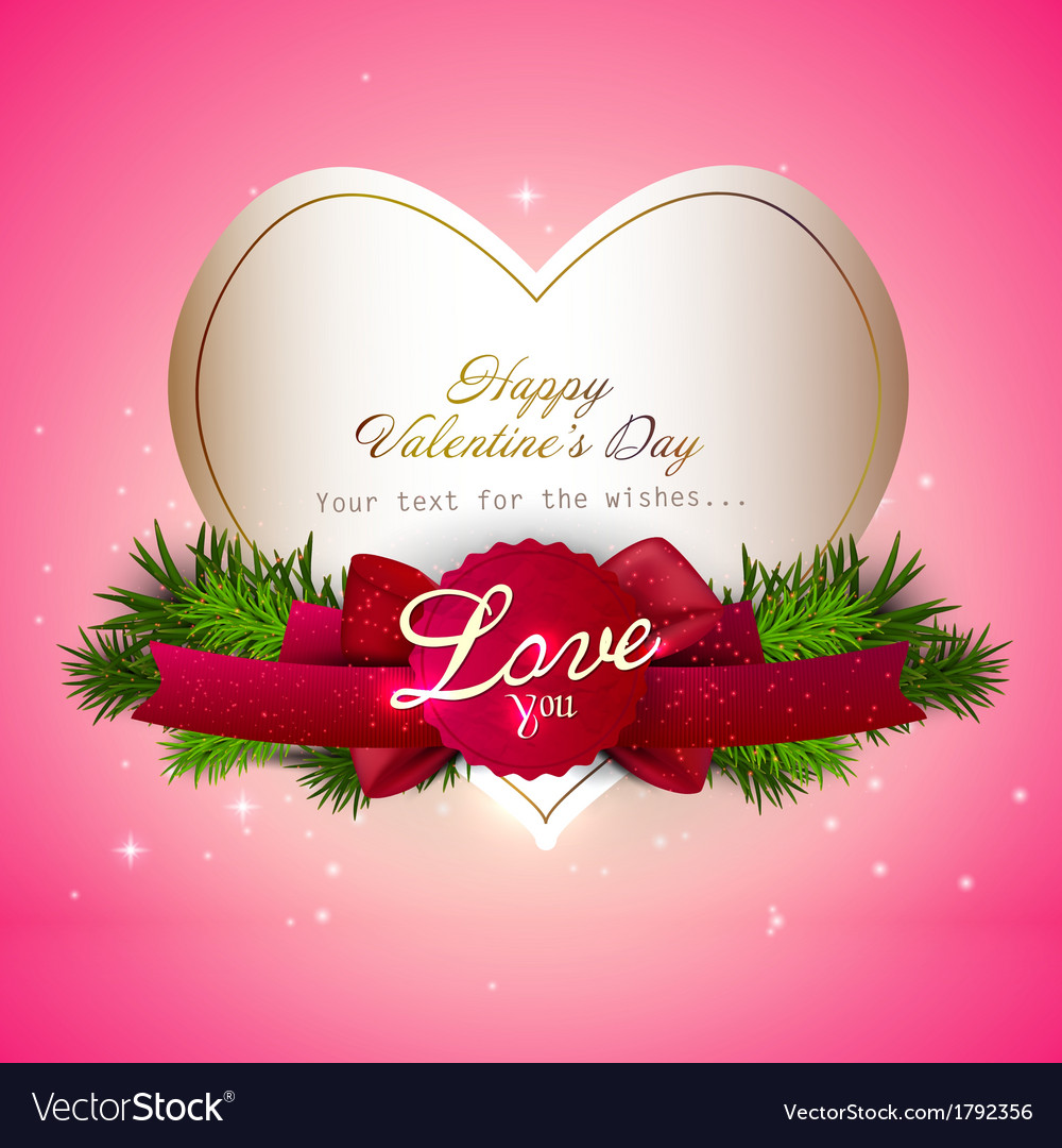 Valentine Gift Card Design Royalty Free Vector Image