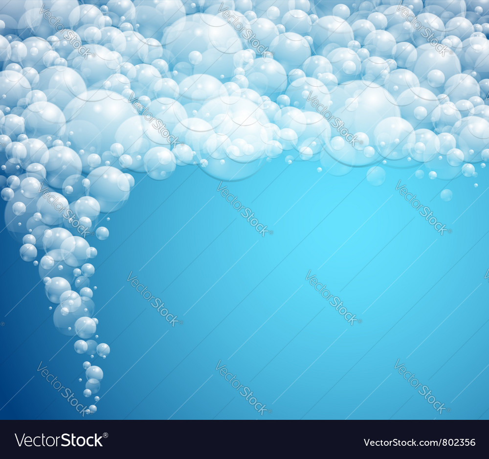 Water bubbles background vector image