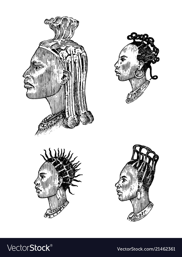 African national male hairstyles profile of a man